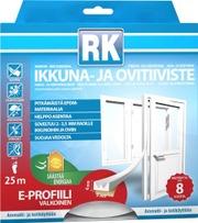 Rk Ikkuna- Ja Ovitiiviste E-Profiili Epdm 25M Valkoinen