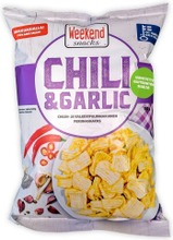 Weekend Snacks Chili & Garlic Chili- ja valkosipulimakuinen perunasnacks 180g