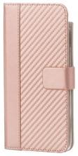 Wave Carbon Book Case, Apple Iphone 8 Plus / 7 Plus / 6S Plus / 6 Plus, Ruusukulta