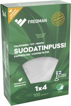 Fredman Suodatinpussi 1X4 Valkoinen 100Kpl