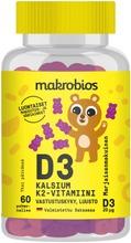 Makrobios Pehmonalle D3   Kalsium   K2-Vitamiini 60Kpl 120G