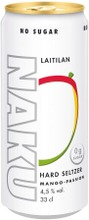 Laitilan Naku Hard Seltzer Mango-Passion 4,5% 0,33L Long Drink