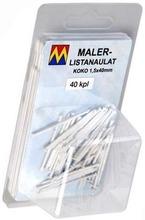Maler Listanaulat 1,5X40 Valkoinen 40 Kpl / Pkt 98100 Maler