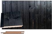 Maler Spa Paneeli Sts-3 Pn Rustik Kuusi 14X120x2385 Ympäropontattu Spa Harjattu Hiili 8756025-2400