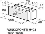 Kahi Runkopontti H=98 300X130x98