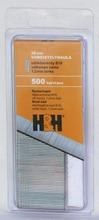 H&H Viimeistelynaula 38Mm Sähkösinkitty 500Kpl Valkoinen Kanta