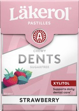 Läkerol Dents Strawberry Ksylitolipastilli 85G