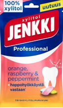 Jenkki Professional Orange, Raspberry & Peppermint Täysksylitolipurukumi 90G