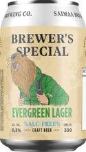 Brewer's Special Evergreen Lager 0,3% Olut 0,33L Tölkki