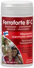 Ferroforte B   C Rautasitraatti-Vitamiinitabletti 120 Tabl