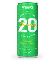 Sportlife Nutrition Twenty Protein Drink 330Ml Hawaii Tropical Fruits Hiilihapotettu Virvoitusjuoma