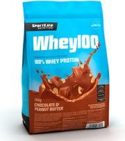Sportlife Nutrition Whey100 700G Suklaa-Maapähkinä Heraproteiinijauhe