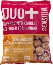 Mush Duo  Kana-Kalkkuna Täysrehu Koirille 1Kg Pakaste