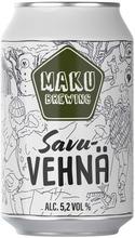 Maku Brewing 5,2% 0.33L Savuvehnä Olut Tlk