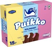 Pingviini Puikko Laktoositon Kermajäätelöpuikkolajitelma Monipakkaus Kolmoset 15X32g