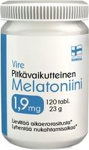 Vire Melatoniinivalmiste Melatoniini 1,9 Mg Pitkävaikutteinen 120 Tablettia / 23 G