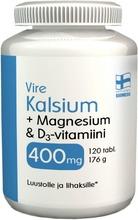 Vire Hivenaine- Ja Vitamiinivalmiste Kalsium-Magnesium-D-Vitamiini 120 Tablettia / 176 G