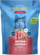 Hau-Hau Champion Nautaa Ja Kauraa Täysravinto Aikuisille Koirille 1,5 Kg