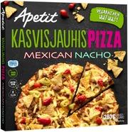 Apetit Kasvisjauhispizza Mexican Nacho Herneproteiinipyörykkä-Chili-Nachopizza Pakastepizza 280G
