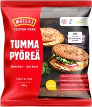 Moilas Gluten-Free Tumma Pyöreä 3 Kpl 240 G, Kypsä Pakaste