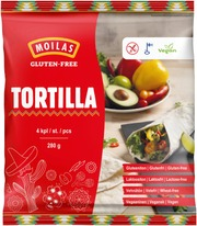 Moilas 4Kpl/280G Gluteeniton Tortilla Pakaste
