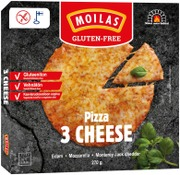 Moilas Gluten-Free 3 Cheese Pizza 270 G, Pakaste