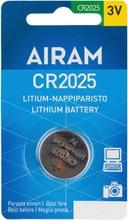 Cr2025 3V Litiumparisto Airam 1Krt