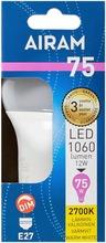 Airam Led 12W Vakiolamppu Opaali E27 1060Lm 2700K Himmennettävä