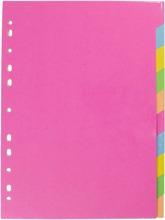Karto Kartonkirekisteri A4 1-10 Värilajitelma