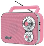 Macs Rico Kannettava Radio Pinkki