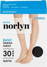 Norlyn Naisten Nilkkasukat 30Den 2-Pack