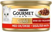 Gourmet 85g Gold Naudanlihaa Kastikkeessa kissanruoka