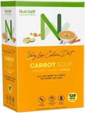 Nutrilett Carrot Soup Coconut&Ginger Vegan Vlcd Vegaaninen Vähälaktoosinen Kookosta Ja Inkivääriä Sisältävä Porkkanakeitto Erittäin Niukkaenergiainen Ruokavalionkorvike 5X33g
