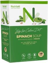 Nutrilett Spinach Soup With Kale & Onion Vegan Vlcd Vegaaninen Vähälaktoosinen Lehtikaalta Ja Sipulia Sisältävä Pinaattikeitto Erittäin Niukkaenergiainen Ruokavalionkorvike 5X33g