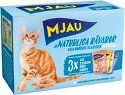 Mjau Lajitelma Liha&Kala Hyytelössä 12X85g Kissanruoka