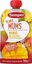 Semper Fruktmums Mango 110G, Omenaa, Mangoa Ja Ananasta Hedelmäsose Alk. 6Kk