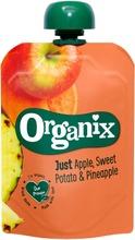 Organix Just Omena, Bataatti & Ananas 100G  Alkaen 6 Kk, Luomuhedelmäsose