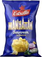 Estrella Manhattan Sourcream & Onion Chips 275G