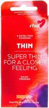 Rfsu Thin Ohut Kondomi 5Kpl