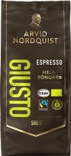 Arvid Nordquist Espresso 500G Giusto Espresso Kahvipapu