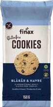 Finax Cookies 150G Mustikka-Kaura Keksi Gluteenition Ja Laktoositon