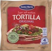 Santa Maria 160G Tex Mex Tortilla Original Medium (4-Pack)