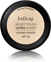 Isadora Velvet Touch Ultra Cover Compact Powder 7,5G Kivipuuteri Fair Porcelain
