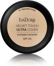 Isadora Velvet Touch Ultra Cover Compact Powder 7,5G Kivipuuteri Neutral Ivory