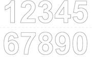 Habo Vinyylinumerot 0-9 X2 250Mm Valkoinen