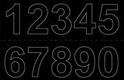 Habo Vinyylinumerot 0-9 X2 50Mm Musta