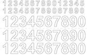 Habo Numerot 0-9 X3 Vinyyli 13/26 Mm Valkoinen