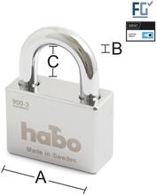Habo Riippulukko 900-3 Lk 3