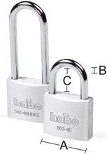 Habo Riippulukko 503-40/503-40Hb62 Alumiini