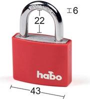 Habo Riippulukko 703-40 Punainen